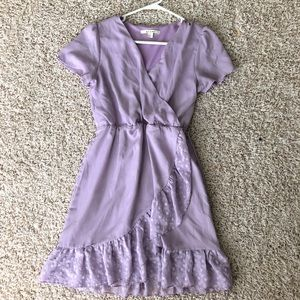 Lavender mini wrap dress